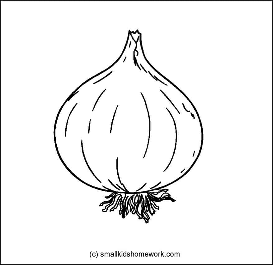 Vegetables Outline Pictures and Coloring Pages for Kids