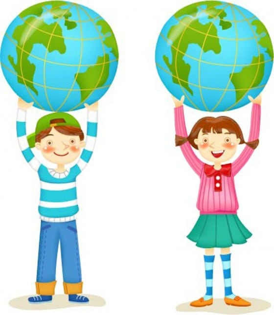 The-Kids-with-Globe-Icon-in-Vector-Design-560x644