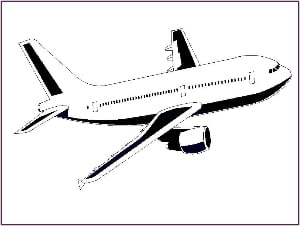 Aeroplane Outline Picture