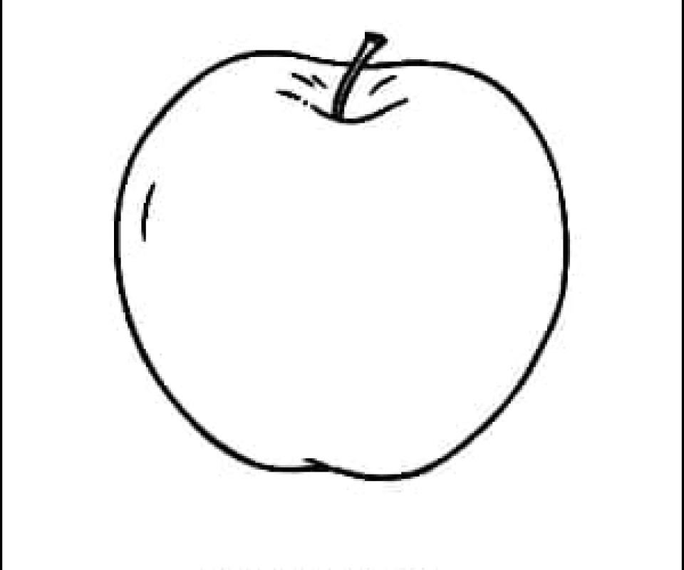 Apple Outline Picture