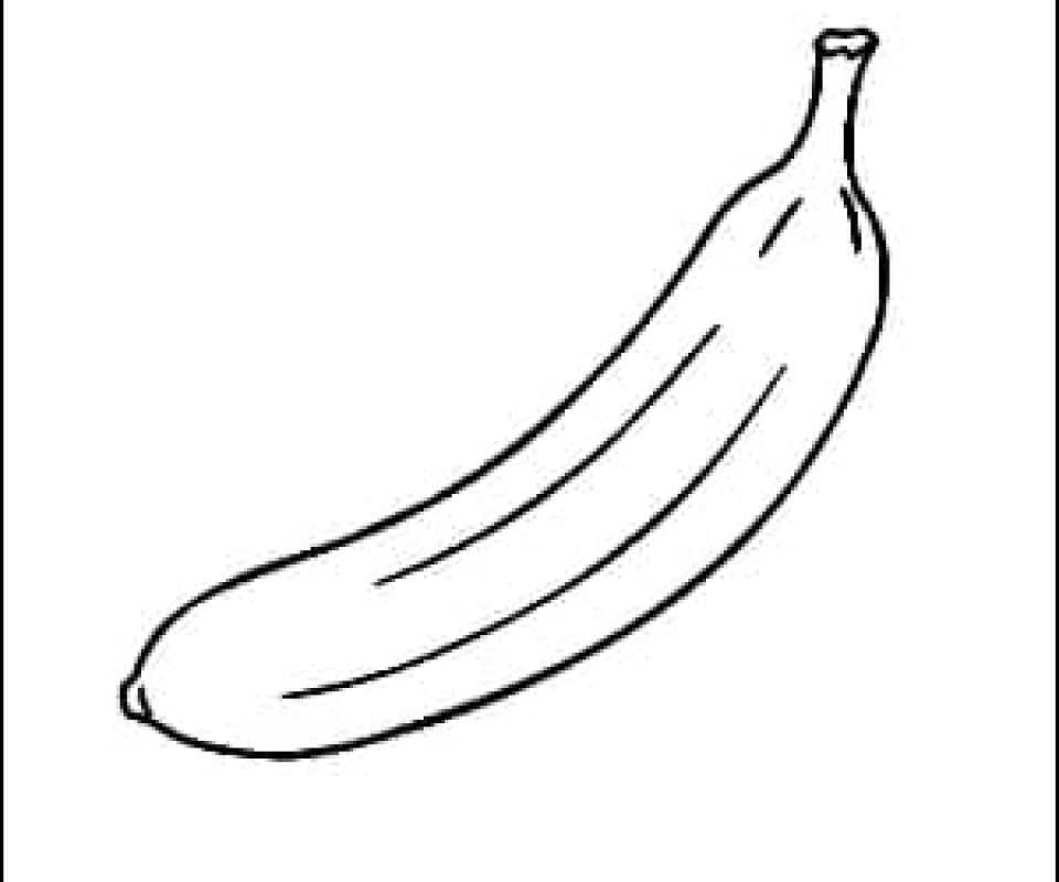Banana Outline Picture