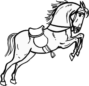 horse outline picture