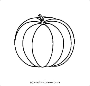 Pumpkin Outline Picture