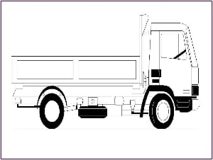 Truck Outline Picture