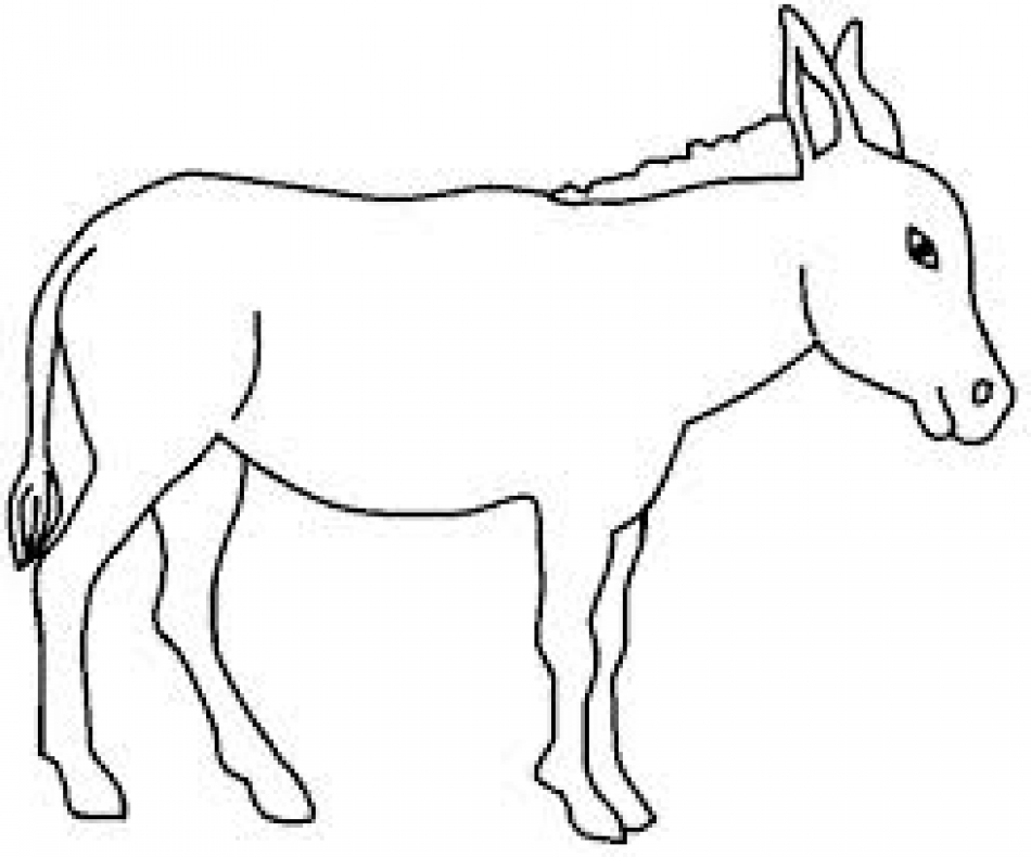 donkey outline picture