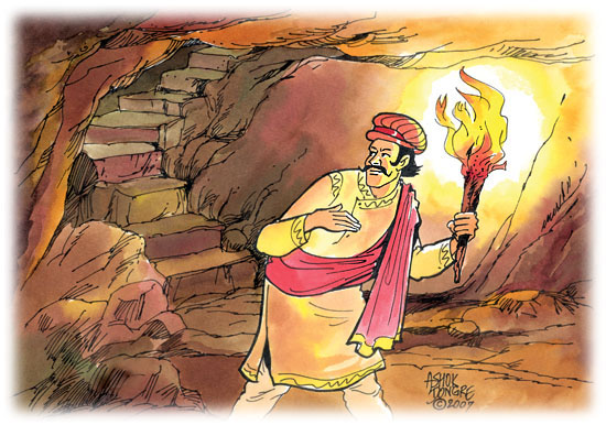 Birbal Makes a Journey to Heaven