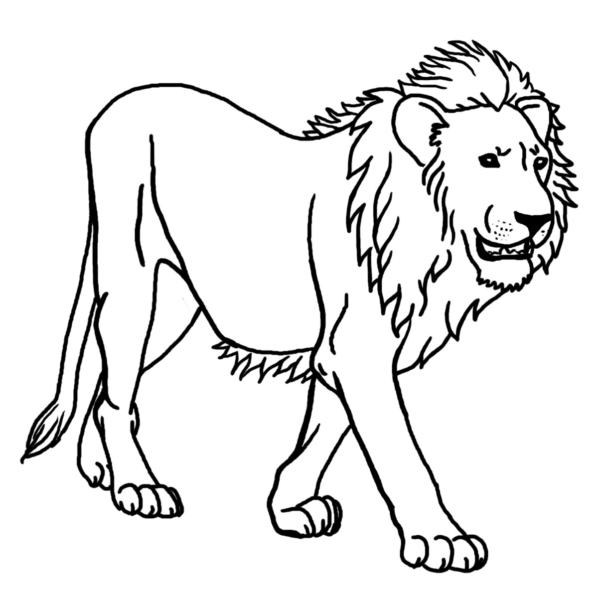 outline of a lion - Boat.jeremyeaton.co